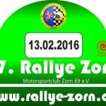 Rallyeschild 2016 A4 Rallyeschild